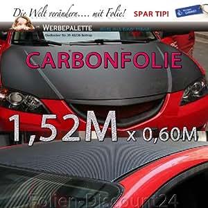 Carbonfolie 150 x 60 cm Art-Nr 2204, schwarz matt, selbstklebend, mit fühlbarer 3D-Gewebestruktur (siehe Abbildung), Kein einfacher Aufdruck !, hohe Klebkraft Karbon Carbon Folie