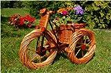Dreirad aus Korbgeflecht , 55 cm, Korb-Dreirad, Trike, Rad zum Bepflanzen, Blumentöpfe, Pflanzkasten, Blumenkasten, Pflanzhilfe, Pflanzcontainer, Pflanztröge, Pflanzschale, Dreirad, Trike, Rad, aus hochwertigem Korbmaterial, Korbgeflecht, Rattan, Weinkörbe, Weidenkorb, Pflanzkorb, Blumentöpfe, keine Holzschubkarre, Pflanztrog, Pflanzgefäß, Pflanzschale, Blumentopf, Pflanzkasten, Übertopf, Übertöpfe, Blumentopf, Pflanzgefäß, Pflanztöpfe, Pflanzkübel, Pflanzkarre