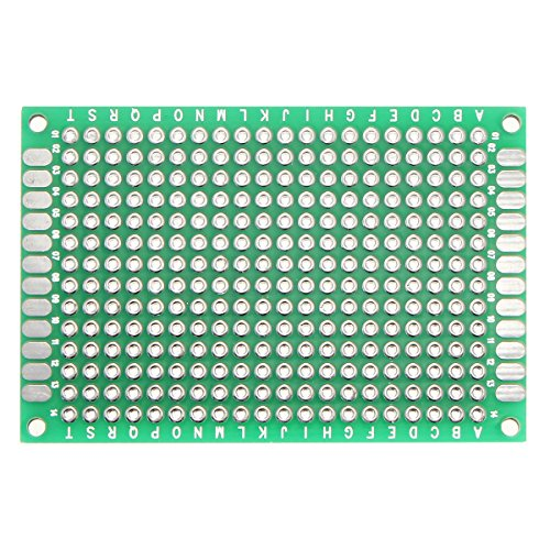 LaDicha 1pc Double côté Prototype de Carte de Circuit imprimé PCB Carton étamé Universel 40mmx60mm FR4 Fibre