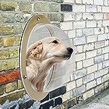 BallylellyHaustiere Hunde Katzen Zaun Fenster Big Bubble Shape Acryl Haustier Lookout Fenster (Farbe: Transparent)
