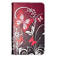 Kamal Star KINDLE FIRE HD 10 2015 Case, Leather Wallet flip cover,back stand cover, Full Body protection tablet cover by (Purple Butterfly)