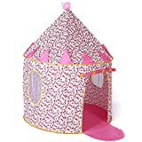 Sonyabecca Cotton Princess Castle Tent Pop up Tent Playhouse for Girls