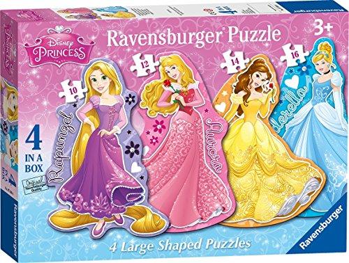 Ravensburger Disney Princess 4 Large Shaped Jigsaw Puzzles (10,12,14,16pc)
