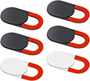 KIWI design Webcam Cover, 6 Pack Laptop Camera Cover Slide Ultra Thin with Clean Cloth for Laptop, PC, MacBook, iMac, Compute