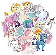 TOYMYTOY Unicorn Stickers Decals - 33 Pcs, Unicorn Party Favors, Laptop, Luggage Decor