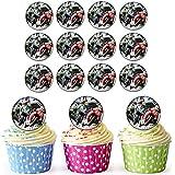 Moto GP 30personalizado comestible cupcake toppers/adornos de tarta de cumpleaños–fácil troquelada círculos