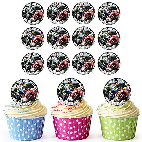 Moto GP 24personalizzata torta/torta di compleanno decorazioni-Easy pretagliato cerch