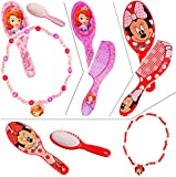 alles-meine.de GmbH 2 tlg. Set _ Haarbürste + Halskette / Kamm -  Minnie Mouse Oder Sofia  - NAM..