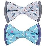 Blueberry Pet-Hundehalsbänder, Set mit 2Stück, verschiedene Designs, für Welpen und kleine Hunderassen, mit Blume/Fliege