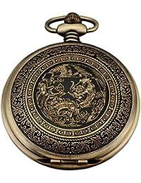 AMPM24 WPK062 - Reloj de Bolsillo Cuarzo, Analógico, Caja Bronce, con Dibujos Animados