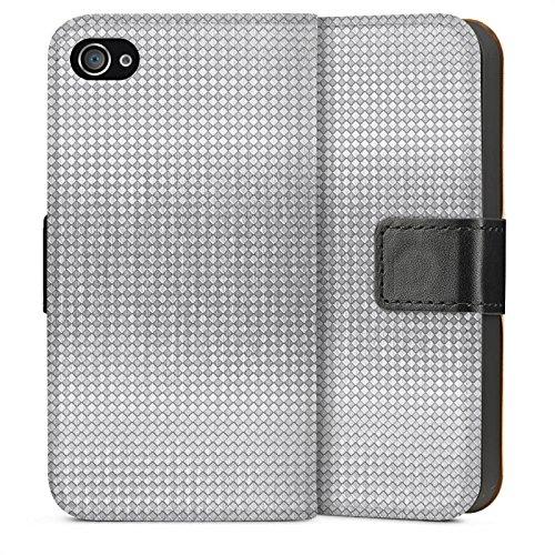 Apple iPhone 5s Housse Étui Protection Coque Argent Motif Motif Sideflip Sac