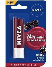NIVEA Lip Balm, Fruity Blackberry Shine, 4.8g