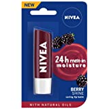 NIVEA Lip Balm, Fruity Berry Shine, 4.8g