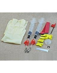Let-going kit de purge de frein à disque hydraulique professionnel pour tous les Dot Code5Code R Juicy J3J5J7ultime Elixir E1E3E5E7ER XX XO Formula R1RX K24K18Hayes Bngal Hope Quad Avid, Simple Kit