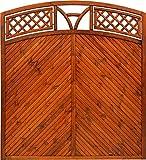 Andrewex Toulon Sichtschutzzaun mit Bogen Teak 180/195 x 180 cm (H x B cm ) aus Kieferholz Sichtschutz / Windschutz
