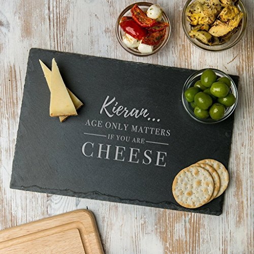 Personalised Birthday Gift for Him Men - 'Age only Matters if you're Cheese' Cheese Board