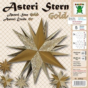 Weihnachtsbasteln Sterne Aus Goldpapier.Asteri Stern Gold Weihnachten Fröbel Stern Basteln Advent Mit