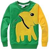 COCOM10 Niños Puentes Elefante Suéteres Con Capucha Suéter Ropa Camisetas Casual Tops Cotton Tee Age 2 3 4 5 6 7