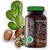 Supergreens +D - Organic & Vegan Vitamin D (2000 IUs), Superfoods, 5 Billion Probiotics, Digestive Enzymes – Gut Health, Immunity, Digestion (30-Day Supply)