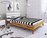 Main Möbel Doppelbett Retro 200x200cm Wildeiche & weiß