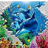 Wandgemälde fototapete 3d seaside world delphin tv hintergrundbild kinderzimmer spielplatz benutzerdefinierte wandbild