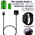 Cesippe Portable Watch Charging Dock, 3.3ft Cable Wireless Magnetic Charger Pad For iWatch Series 5 40mm 44mm Compatible...