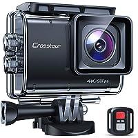Crosstour CT9700 Echte 4K 50fps Action Cam Touchscreen LDC EIS Unterwasserkamera (Fernbedienung Ladegerät 20MP Wi-Fi 40M…
