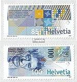 Schweiz 1999-2000 (kompl.Ausg.) 2007 Schweizerische Nationalbank (Briefmarken für Sammler) Münze auf Marke