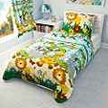 Children's Bedding set- Boys Duvet Cover and Pillowcase Cot/ Cot bed/ Toddler - JUNGLE BLUE