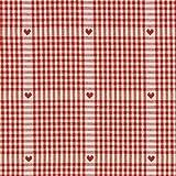 Fabulous Fabrics Dekostoff Kariert mit Herzen 1 - Meterware