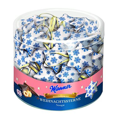 Preisvergleich Produktbild Manner - Weihnachtsbaum-Behang Nougat-Sterne - 585g