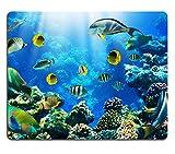 Liili Mauspad Naturkautschuk Mousepad Foto von einer tropischen Fisch auf einer Coral Reef Bild-ID 12568718