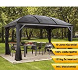 Sojag Gazebo Moreno Sommer-Pavillon und Gartenlaube mit Hard-Top Dach
