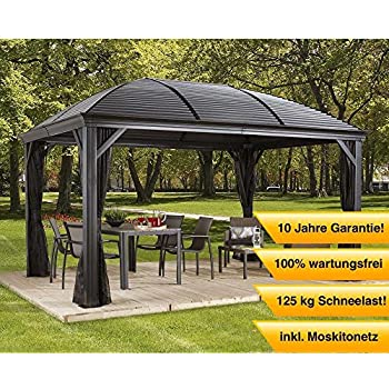 aluminium pavillon berdachung gazebo moreno 298x423 cm bxh sommer pavillon. Black Bedroom Furniture Sets. Home Design Ideas