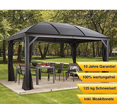 Stand Hält 12 Cues (Aluminium Pavillon Überdachung Gazebo Moreno // 298x423 cm (BxH) // Sommer-Pavillon und Gartenlaube mit Hard-Top Dach von Sojag)