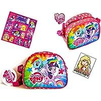 2piezas My Little Pony–Super Set–Kleine Bandolera (20x 16x 9cm) + 12My Little Pony/Equestria Girls Pegatinas