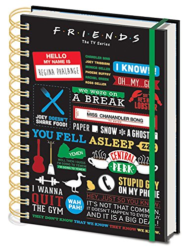 Friends - Cuaderno A5 Espiral Infographic