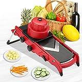 Godmorn Adjustable Vegetable Slicer,Mandoline Slicer,Multi-function Food Slicer Fruit and Cheese Cutter,Julienne Slicer