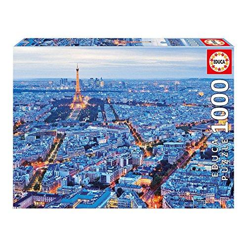 Educa 16286 - Puzzle 1000 Pezzi, Tematica Luci a Parigi
