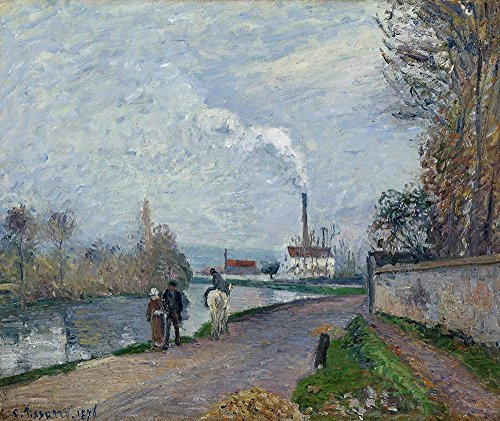 Spiffing Prints Camille Pissarro - The Oise Near Pontoise in Grey Weather - Large - Matte Print -
