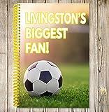 Livingston's Biggest Fan Notizbuch, A5/Zeichnen Pad–Fußball Geschenk