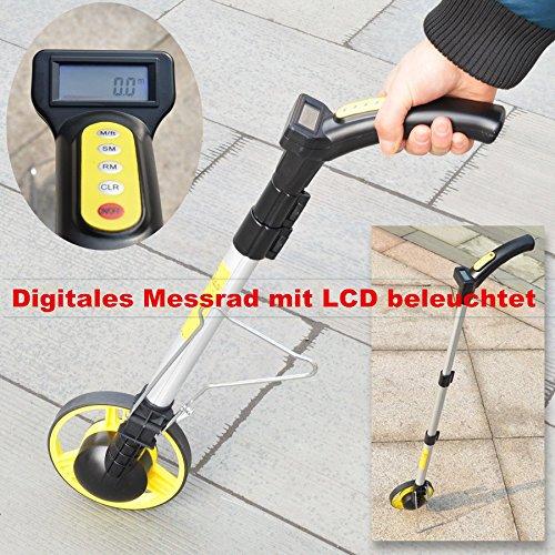 Digitales Messrad Rolltacho Rolatape Messroller mit Tasche LCD beleuchtet