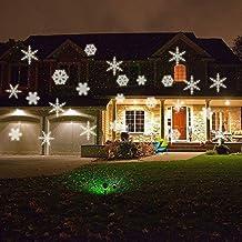 Star Shower lumière LED Flocons de neige de projection \u2013 éclairage de Noël \u2013 Lampe de
