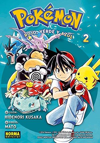 Pokemon 2. Rojo, verde y azul por Mato Hidenori Kusaka