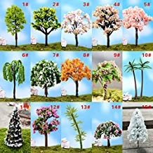 Tianu DIY micro paesaggio Artical bonsai pianta mini albero in miniatura in resina Craft for home Garden Outdoor Decor
