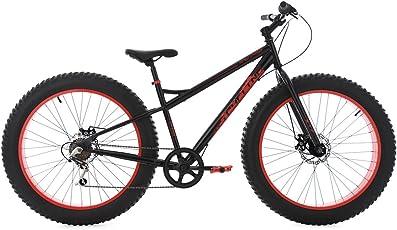 "KS Cycling Herren Mountainbike Fatbike 26"" schwarz-rot Fahrrad"