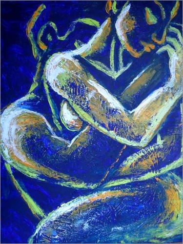 Poster 30 x 40 cm: Liebhaber -Nacht der Leidenschaft 1 von Carmen Tyrrell - Hochwertiger Kunstdruck, Kunstposter