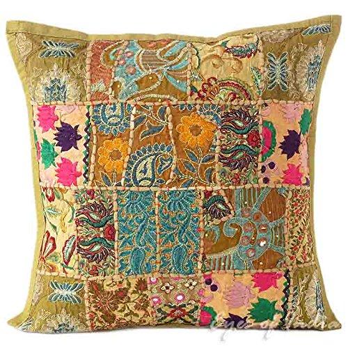 Eyes of India - Colores Patchwork Almohada Decorativa