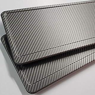 TEILE-24.EU Malinowski Kennzeichenverstärker | Carbon | für Kennzeichen 520 x 110 mm | Aluminium | Alu | inkl.Befestigungsschrauben | PKW LKW Auto Anhänger | NEU