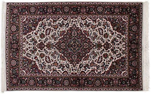Lifetex.eu Hochwertiger Orientteppich Täbriz-Muster (ca. 140x220 cm) · Klassisch · handgeknüpft · Schurwolle mit Seide (<5%) · Mehrfarbig · Teppich · 13884 -